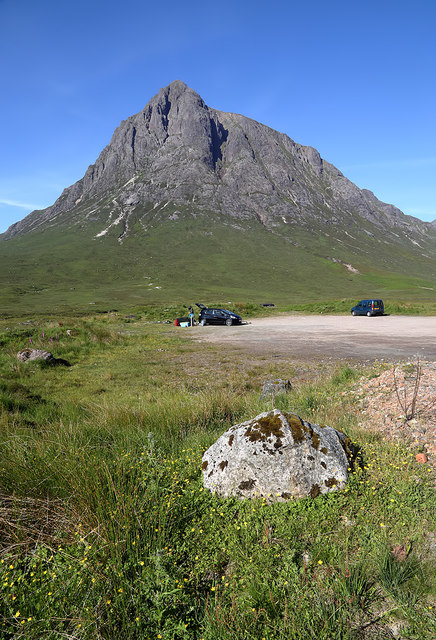 A car park by the A82 in Glen Coe