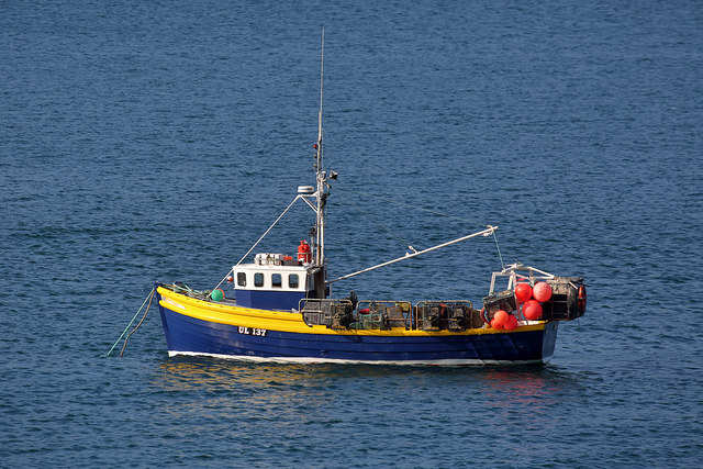 A fishing boat on Little Loch Broom