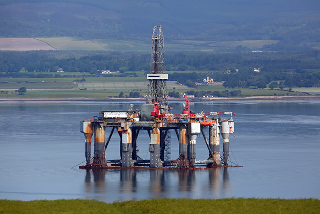 A drilling rig in the Cromarty Firth
