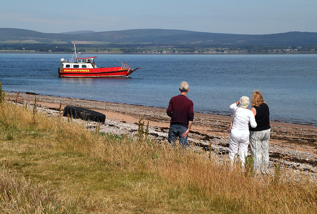 Watching the Nigg Ferry at Cromarty