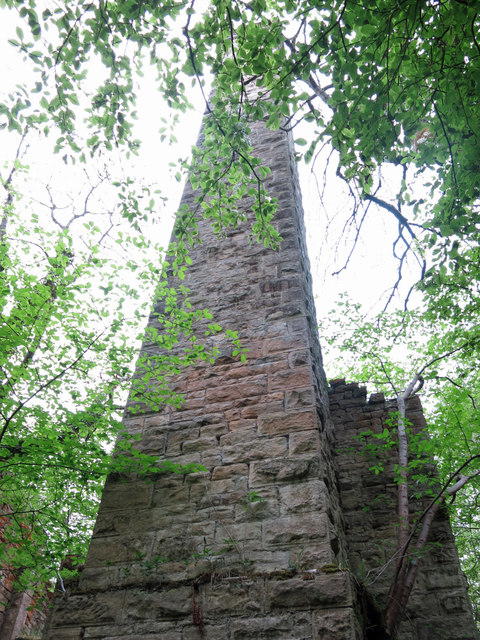 Langley Barony Lead Mine - chimney of the engine and boiler house (3)