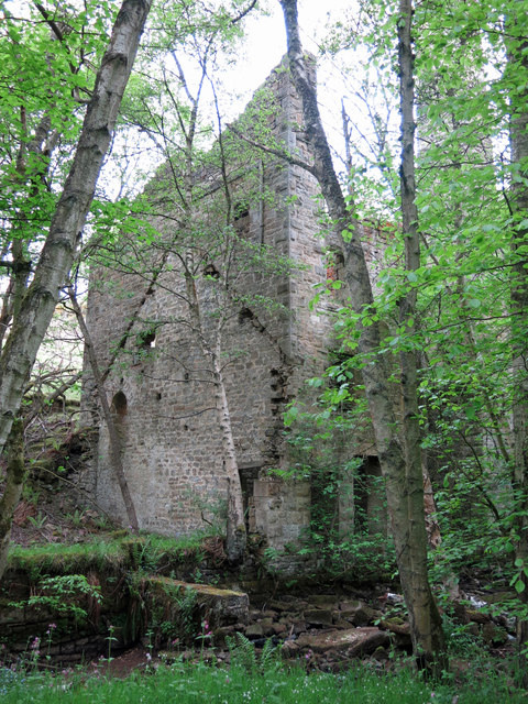 Langley Barony Lead Mine - engine and boiler house (3)