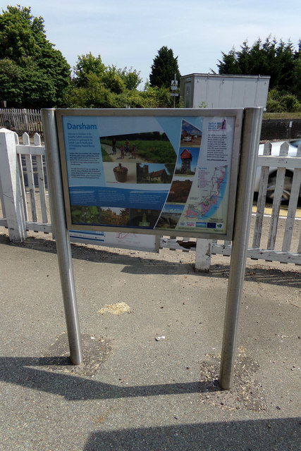 Darsham Information sign