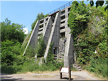 SK1373 : Monsal Trail: former lime kilns near Miller's Dale by Gareth James