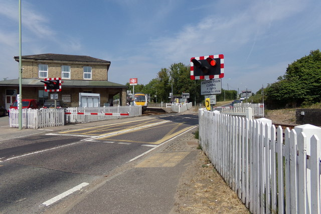 Darsham Level Crossing on the A12 Main Road