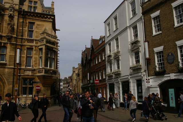 Looking north along Trinity Street, Cambridge