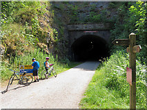 SK1871 : Monsal Trail: western portal of Headstone Tunnel by Gareth James