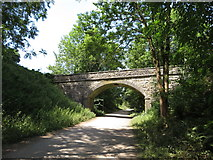 SK1971 : Monsal Trail: overbridge west of Great Longstone station by Gareth James