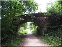 SK2268 : Monsal Trail: overbridge south of Bakewell station by Gareth James