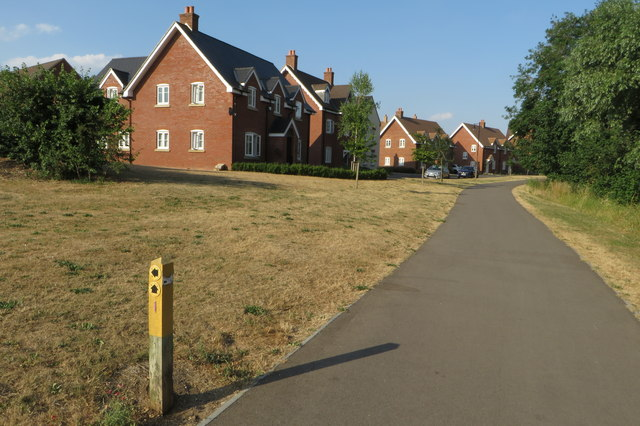New housing by the Ouse Valley Way