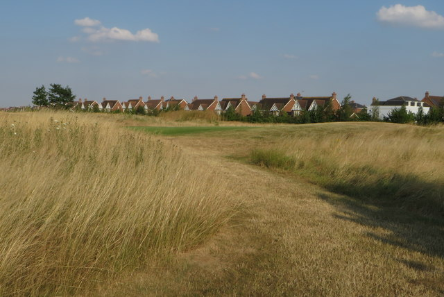 New housing by the golf course