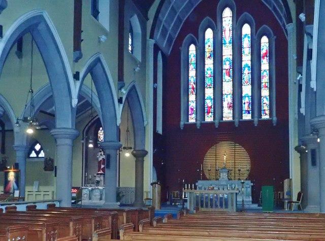 The interior of St Nicholas Catholic Church, Dundalk