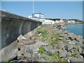 C6439 : Greencastle, harbour wall by Mike Faherty