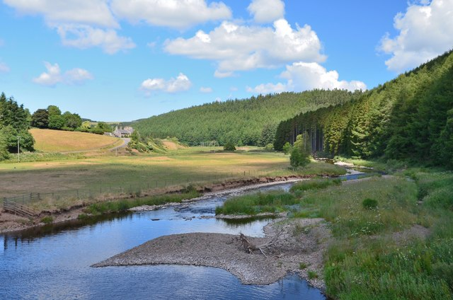 The Whiteadder Water at Ellemford