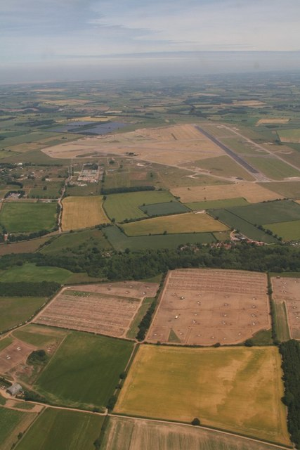 Tattersett to Sculthorpe disused airfield: aerial 2018