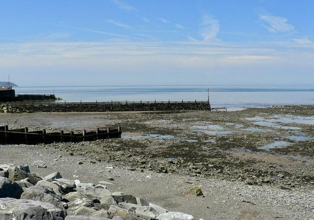 Low tide at Aberaeron