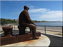 NZ3668 : Fiddler`s Green Memorial, Fish Quay by Geoff Holland