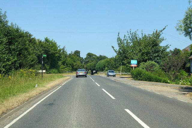 B2068 Nackington Road towards Canterbury