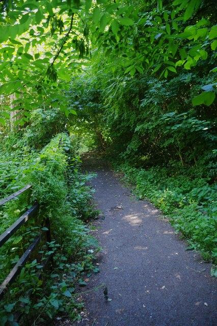 Footpath in Stevens Park, Wollescote, Stourbridge