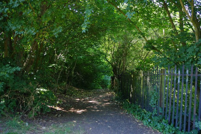 Footpath in Stevens Park, Wollescote, Stourbridge