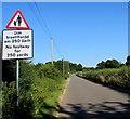 SO4107 : Bilingual warning sign, Station Road, Raglan by Jaggery