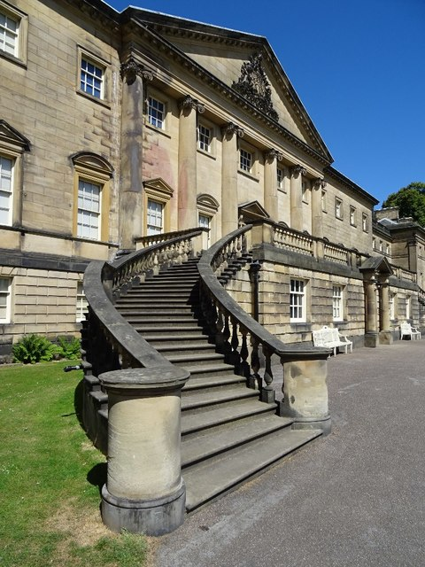 Steps on the east front of Nostell Priory