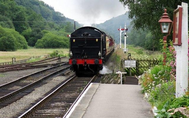 Steam arrival at Levisham Station
