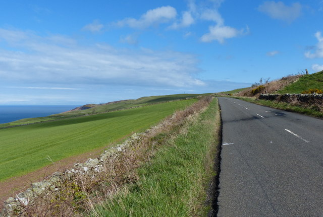 Heading east along the A1107