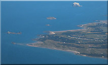 NT4884 : North Berwick coast from the air by Thomas Nugent
