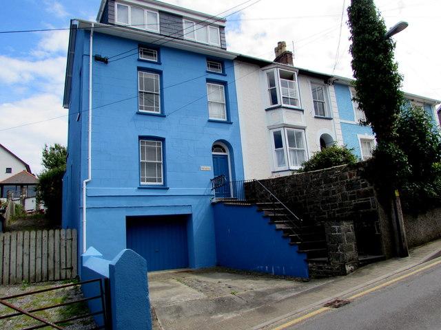 Blue house, Church Street, New Quay
