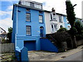 SN3859 : Blue house, Church Street, New Quay by Jaggery