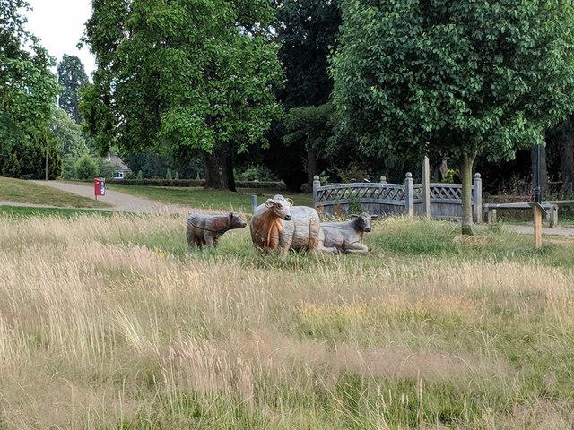 Wooden cattle, Worth Park, Crawley