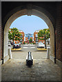 SZ6399 : Cannon in an Archway by Des Blenkinsopp