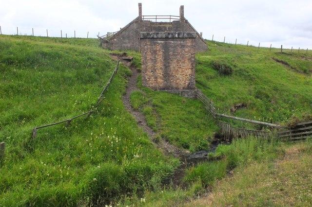 Site of railway bridge over the Lead Burn