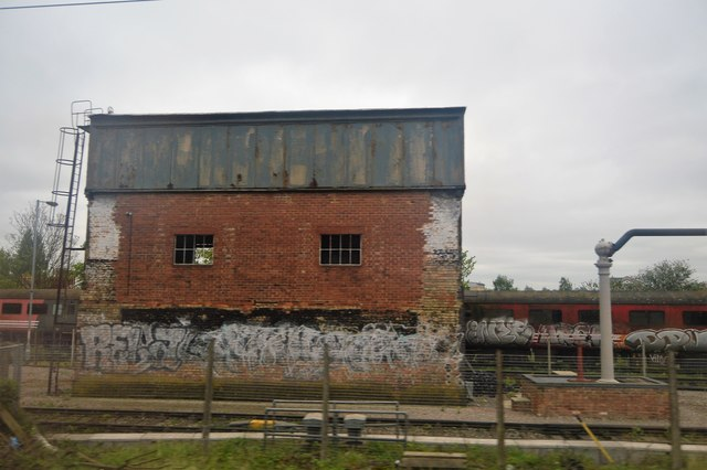 Trackside building, Southall