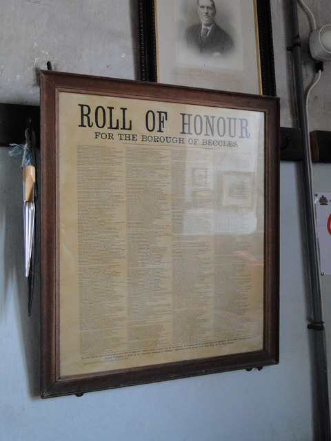 Beccles Roll of Honour