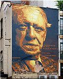SJ8498 : Portrait Of Anthony Burgess by David Dixon