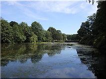 SE2812 : Yorkshire Sculpture Park: Upper Lake by Rudi Winter