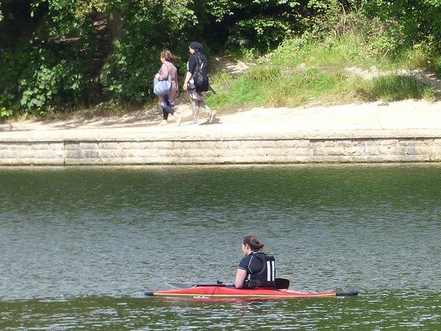 Kayaker on Waterloo Lake
