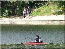 SE3337 : Kayaker on Waterloo Lake by Stephen Craven