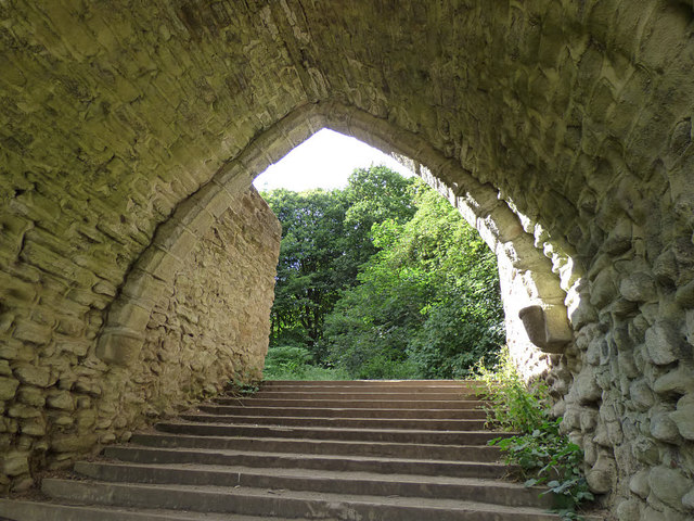 The Castle in Roundhay Park - steps