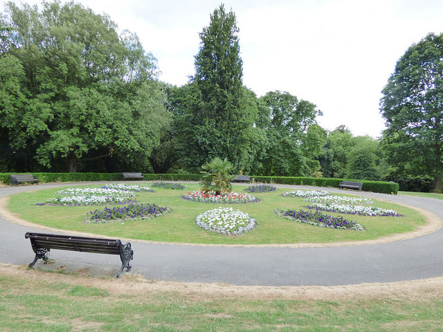 Flower beds in Roundhay Park