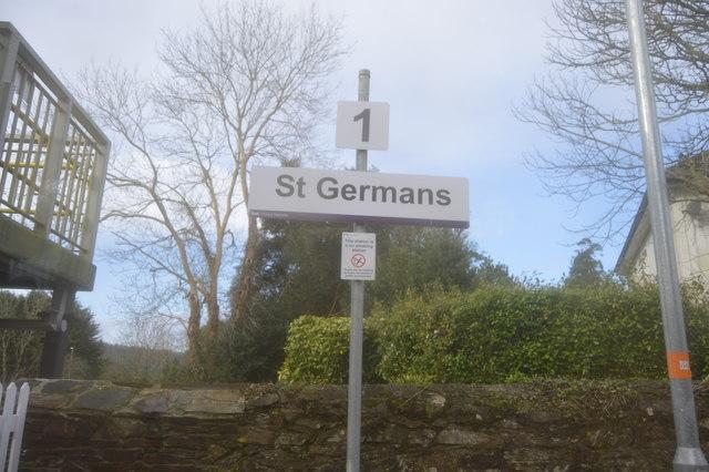 Sign, St Germans Station