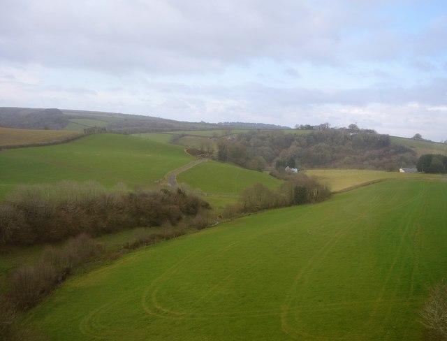 View from Tresulgan Viaduct