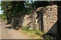 ST4849 : Door in wall, Rodney Stoke by Derek Harper