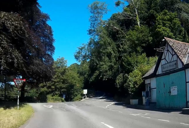 A396 passing the Black Cat Garage