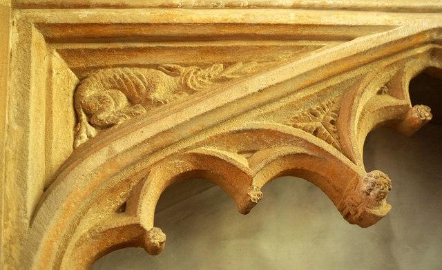 Carving, St Leonard's church, Rodney Stoke