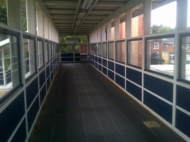 Walkway over the railway lines