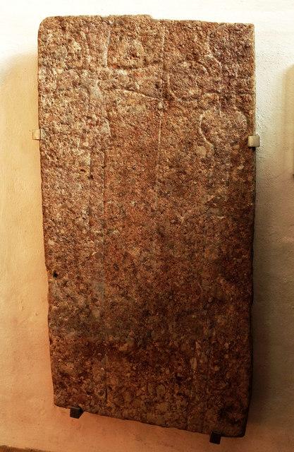 Grave slab, St Leonard's church, Rodney Stoke