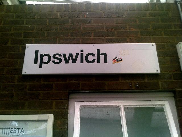 Ipswich Railway Station sign